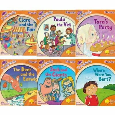 Oxford Reading Tree Songbirds Phonics: Level 6, Six Books Collection Set New