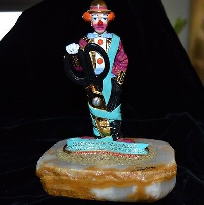 RARE Ron Lee Clown Figurine Signed/Numbered Ribbon Cutting NEVEDA FACTORY LE