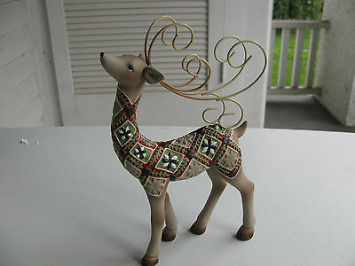 Roman Inc. Reindeer with Metal Antlers, in Box, never used, great for Christmas