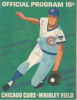 1972 Chicago Cubs Scorecard 11 Sigs Signed Auto Dodgers Wills Frank Robinson