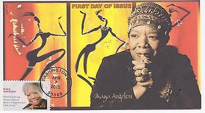 Jvc Cachets-2015 Maya Angelou Black Heritage Topical First Day Covers Fdc #1