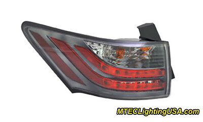TYC NSF Left Outer Side Tail Light Lamp Assembly for Toyota Sienna 2011-2014