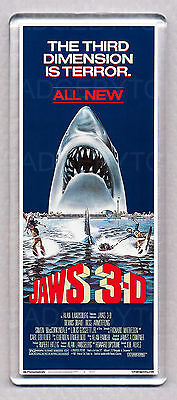 JAWS 3 movie poster WIDE FRIDGE MAGNET  -  The 3-D cult classic!