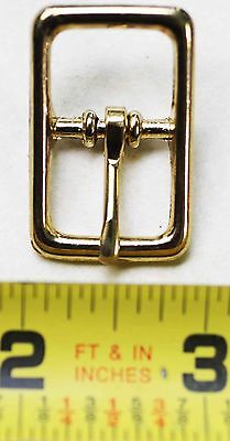 "LOT of 5 5/8"" Center Bar Solid Brass Buckle Belt Dog Collar Bridle Bag 40342"