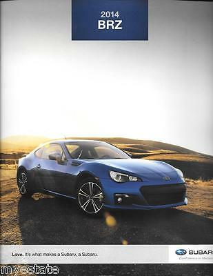 2014 14  Subaru BRZ original sales brochure MINT