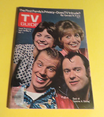1978 T.v Guide April 29- May 5 Laverne & Shirley & The Gang Cover