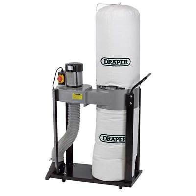 Draper 750W 230V 55L Dust/Wood Chip Extractor Carpentry Workshop Power Tool