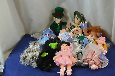 Warner Bros Studio Store The Wizard of Oz Complete Set of Stuffed Toy Beanies