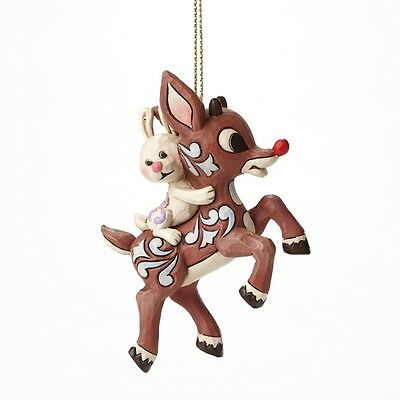 Rudolph Carrying Bunny Ornament