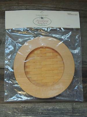 $30 Longaberger 2002 WOVEN MEMORIES Classic Stain Basket Weave Lid NWT