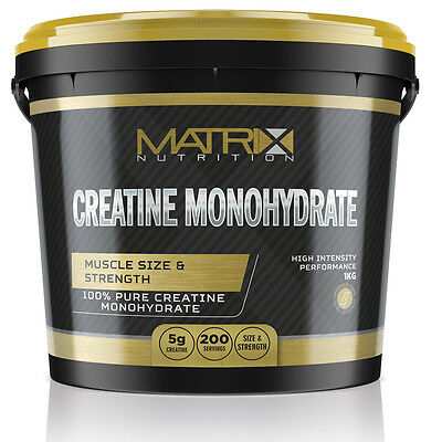 Pure Hardcore Creatine Monohydrate Powder - Muscle Growth - By Matrix 1Kg