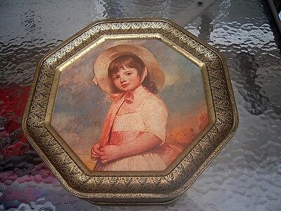 Lot of Antique Modern Vintage Button in a Vintage Octagonal Shaped  Tin