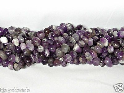 Amethyst Centred Drilled Nugget Gemstone Beads 10-15mm