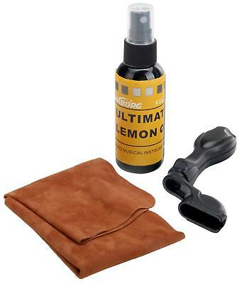 Gitarren Pflege Set Politur Spray Griffbrettöl Lemon Oil Gitarrenpolitur Kurbel
