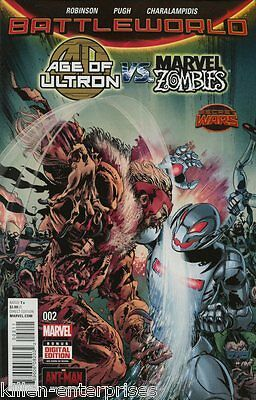 Age Of Ultron Vs Marvel Zombies #2 Comic Book 2015 Secret Wars - Marvel