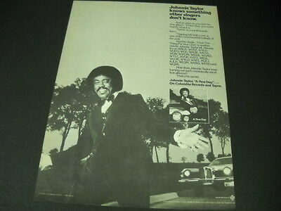 JOHNNIE TAYLOR he knows something others don't 1980 PROMO POSTER AD mint cond