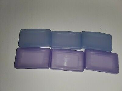 6 Gameboy Advance Protective Game Cases GBA &SP 2 Clear 2 Clear Purple 2 Glacier