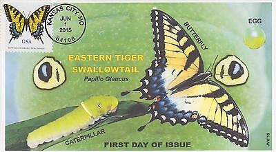 Jvc Cachets-2015 Eastern Tiger Swallowtail Butterfly  Issue First Day Cover #2