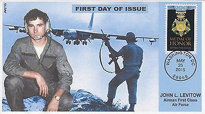 Jvc Cachets-2015 Medal Of Honor Vietnam  Issue First Day Cover Fdc Air Force Moh