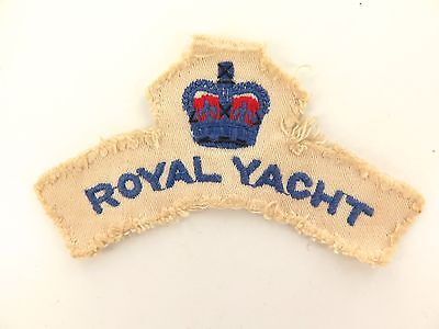 Rare Early 1950'S British Royal Yacht Crew Members Shoulder Patch