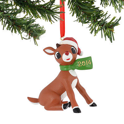 Dept 56 Rudolph with 2014 Scarf Ornament