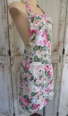 NEW IN PACK Pink Country Roses & Florals 100% Cotton Women's Apron Kitchen