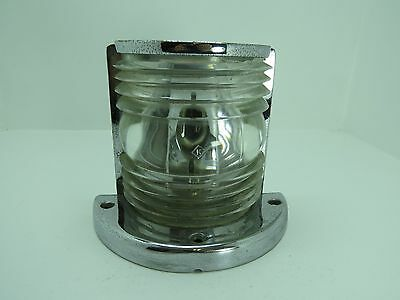 Old Chrome Mast Light With Lens Boat Sailboat Ship (#726)