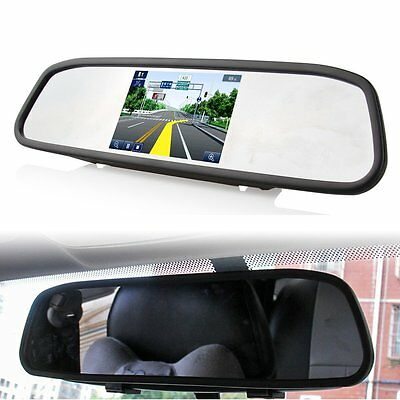 """4.3"""" TFT LCD Rear View Monitor Mirror for Car Backup Reverse Camera System DVD"""