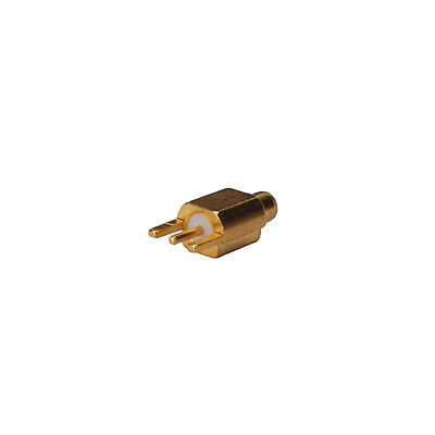 MMCX Male plug Edge PCB Mount RF coaxial connector straight Goldplated New