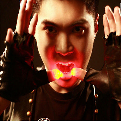 Hot Party Halloween Magic Light Up Thumb Finger Trick Appearing Light Close New