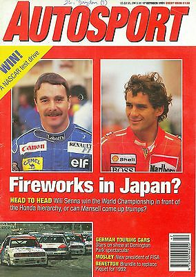 AUTOSPORT magazine 17/10/91 feat. IMSA GT, MX-3, F3000, F3, German touring cars