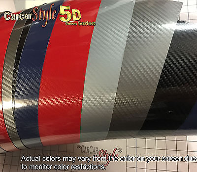 5D Gloss  Shining 【1520mm X 200mm】Carbon Fibre Vinyl Wrap Sticker for Wrapping