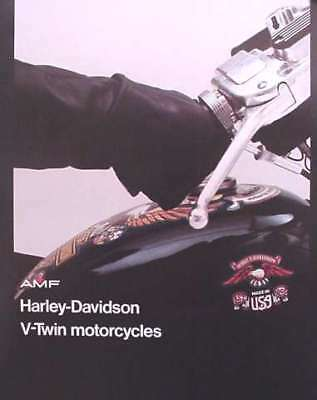 1976 Harley Davidson V-Twin Motorcycle Brochure FXE1200 FLH1200 XL1000 Liberty