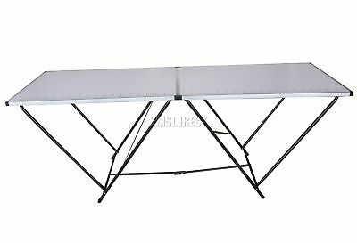 FoxHunter 2M 2 Section Portable Folding Trestle Wall Paper Pasting Table Steel