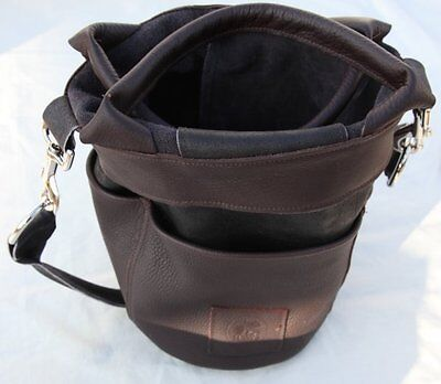 High quality Haws traditional leather garden bucket bag