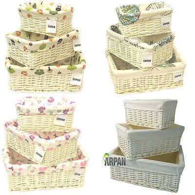 Arpan 100% Wicker Storage Basket, Xmas Gift Hamper In Choice of Size & Color