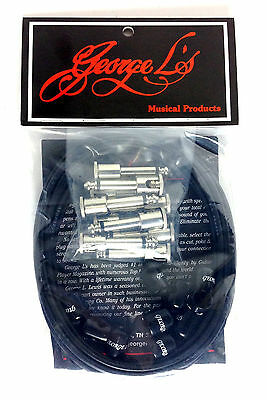 George L's Effects Kit patch cables, black, nickel plated plugs, NEW! FREE S&H!