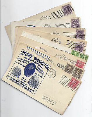 US Event Cover Lot of 8 - George Washington Bicentennial 1932, All Diff Cachets*