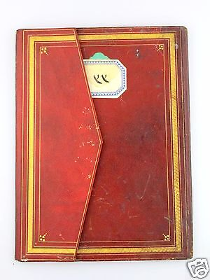 ISLAMIC BINDING Handwritten ILLUMINATED MANUSCRIPT Koran OTTOMAN Antique Ancient