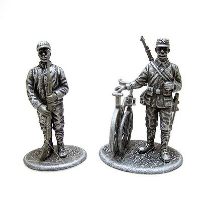 Atlas 1:26 World War I 1914 French Guard & Bicycle Messenger Soldier Limited