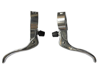 Brake Levers Top Mount 22.2mm Hinged Bracket Silver Radius