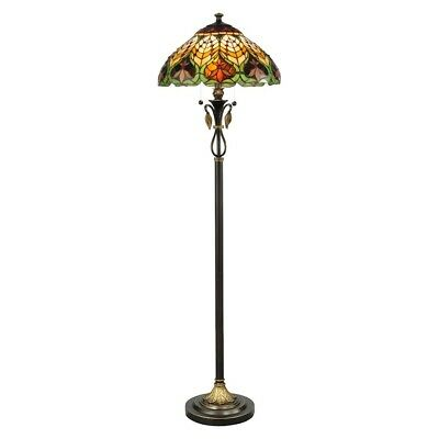 Dale Tiffany Sir Henry Floor Lamp, Antique Brass - TF50012