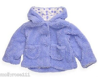 Baby Girl Lilac Pumpkin Patch Fluffy Winter Coat Jacket With Lined Hood