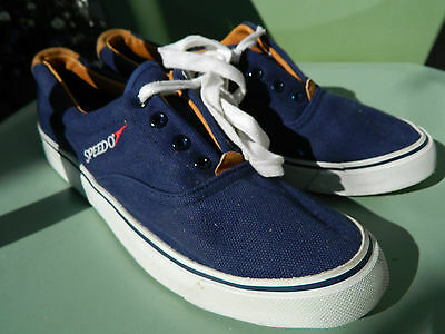f8443514a300 SPEEDO CANVAS BOAT Shoes   US Men size  13   Deadstock Condition ...