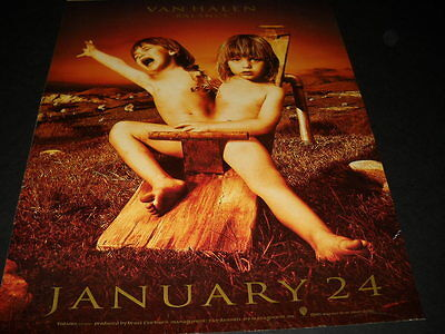 VAN HALEN wild looking 1995 PROMO POSTER AD for BALANCE twins on seesaw MINT