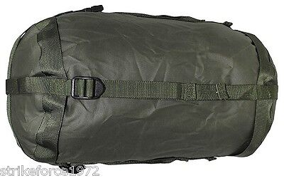 NEW - British Army Issue Green Nylon Compression Sack for Jungle Sleeping Bag