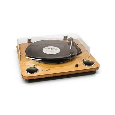 Ion Max LP USB Archive Turntable Record Player Vinyl Transfer inc Speakers