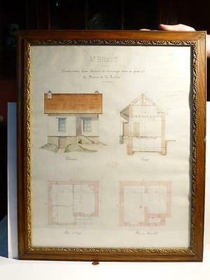 Antique 1896 French House Plan Mr Billet Architect JULES PAGOT Contractor