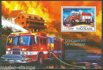 Togo 2015 Fire Engines  Souvenir Sheet  Mint Nh