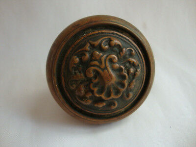 Antique  Victorian  Brass Ornate Eastlake Koor Knob #2